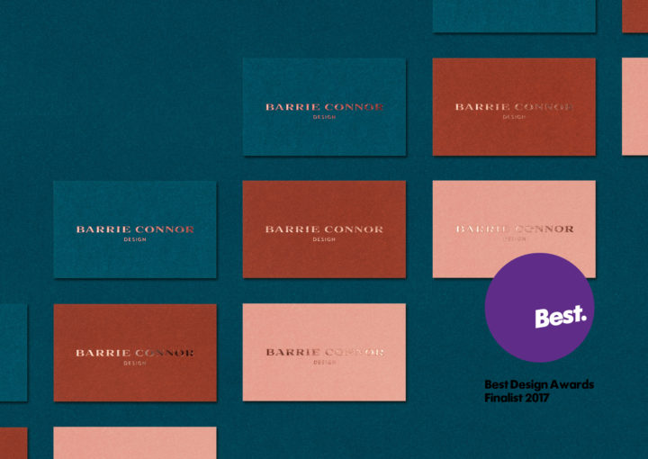 Barrie Connor Design Trio of Business Cards Best Awards Finalist