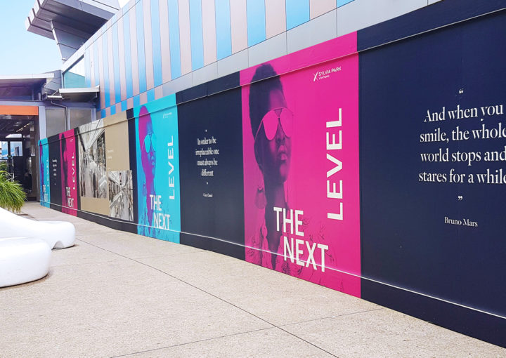 Eye-catching hoarding design for Sylvia Park
