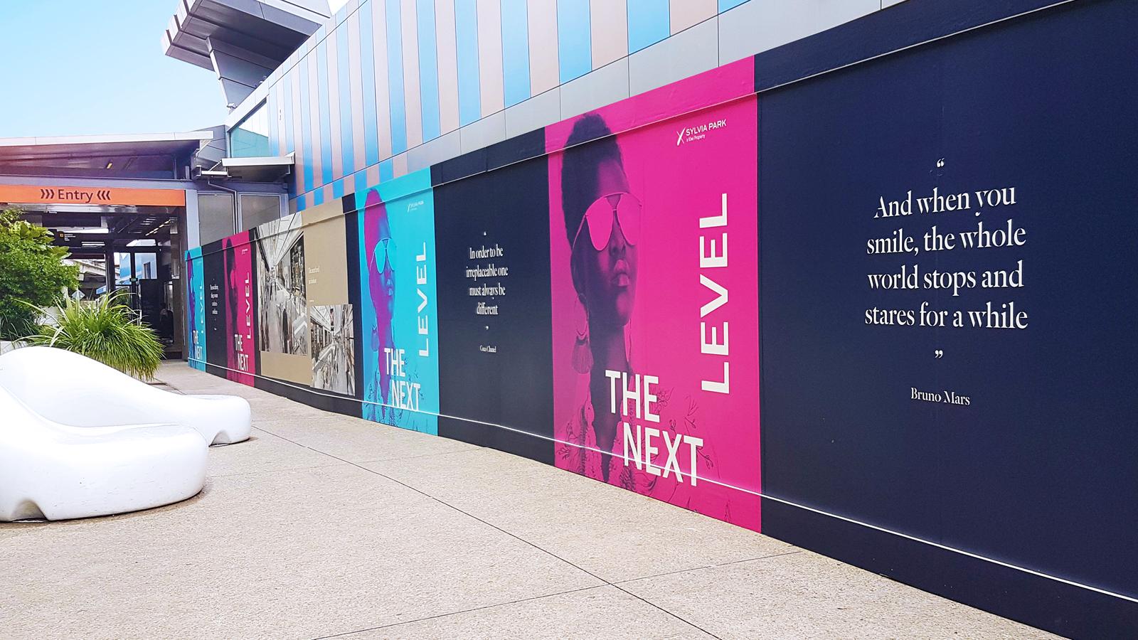 Eye-catching full length hoarding design for Sylvia Park