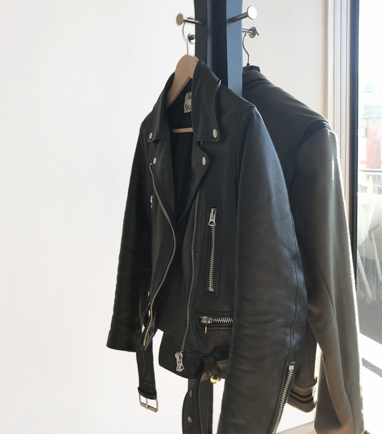 Jackets hanging up in Soap™ Design Studio Auckland