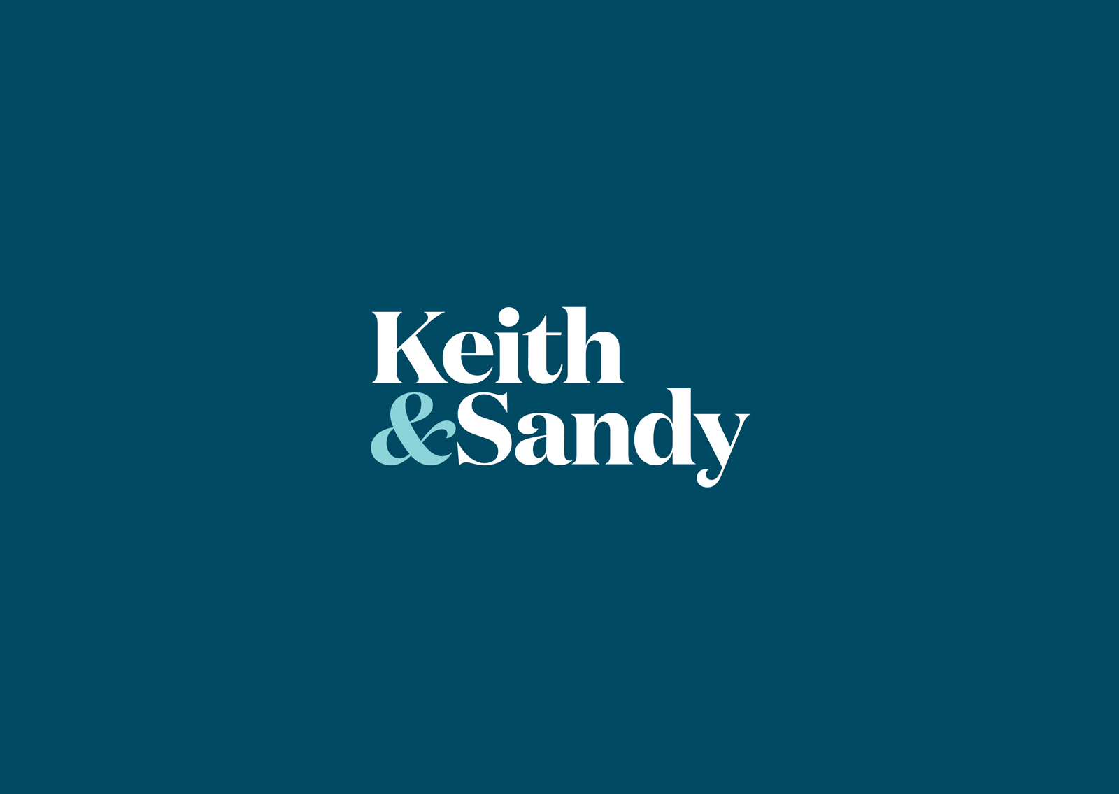Keith and Sandy Custom Residential bespoke team identity