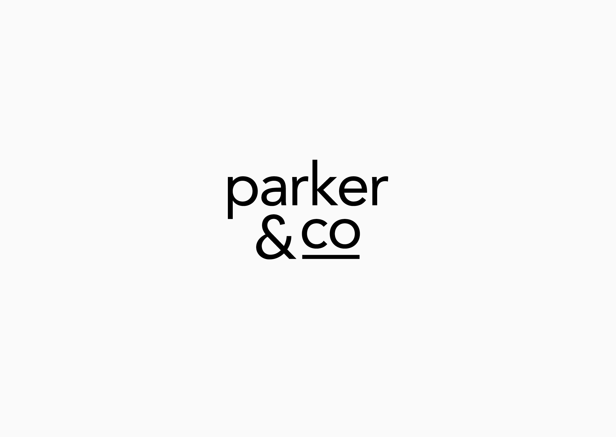 Parker and Co refined identity – simplified and streamlined sans serif typography