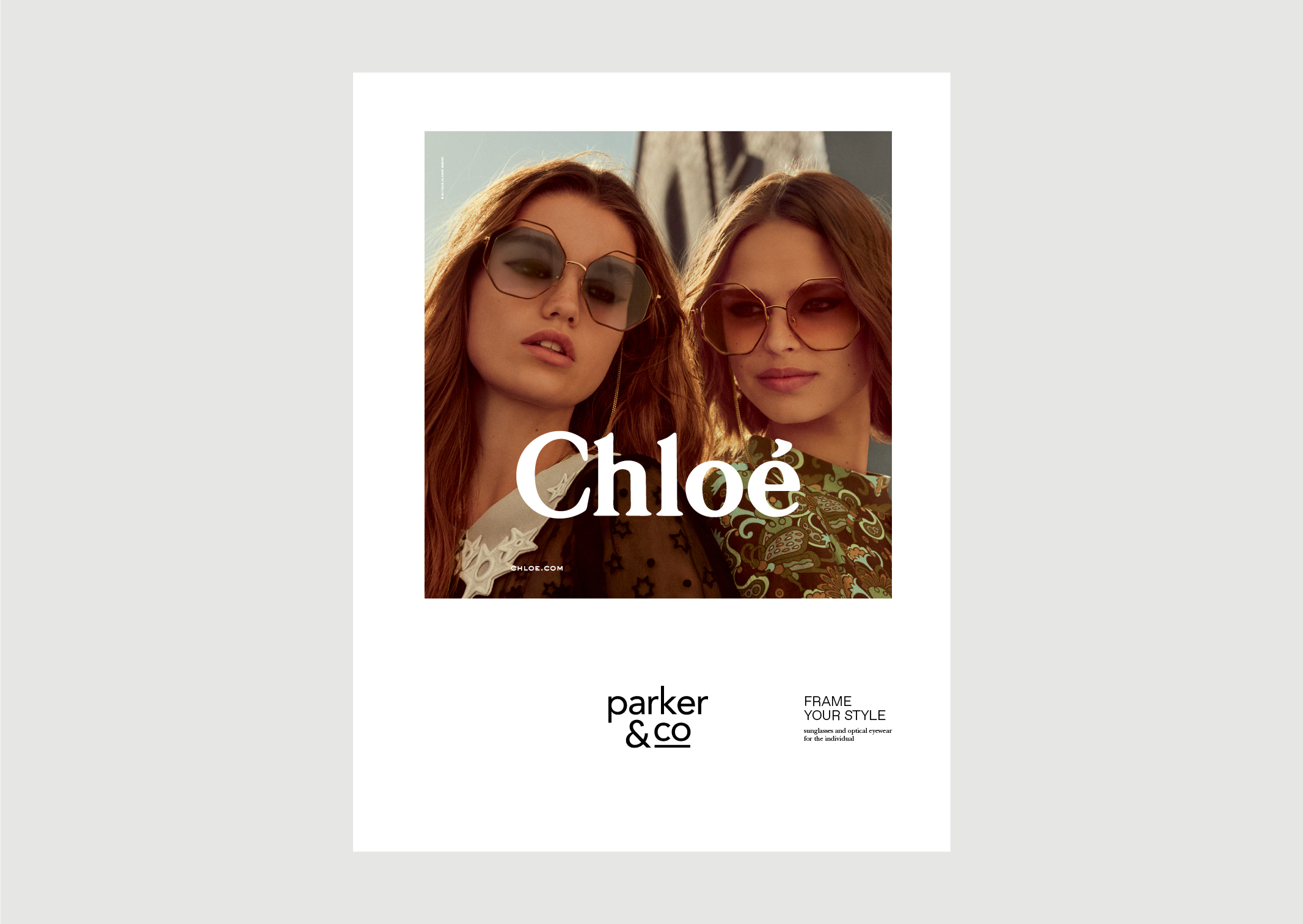 Parker and Co Eyewear – Denizen Ad – featuring Chloe 2018