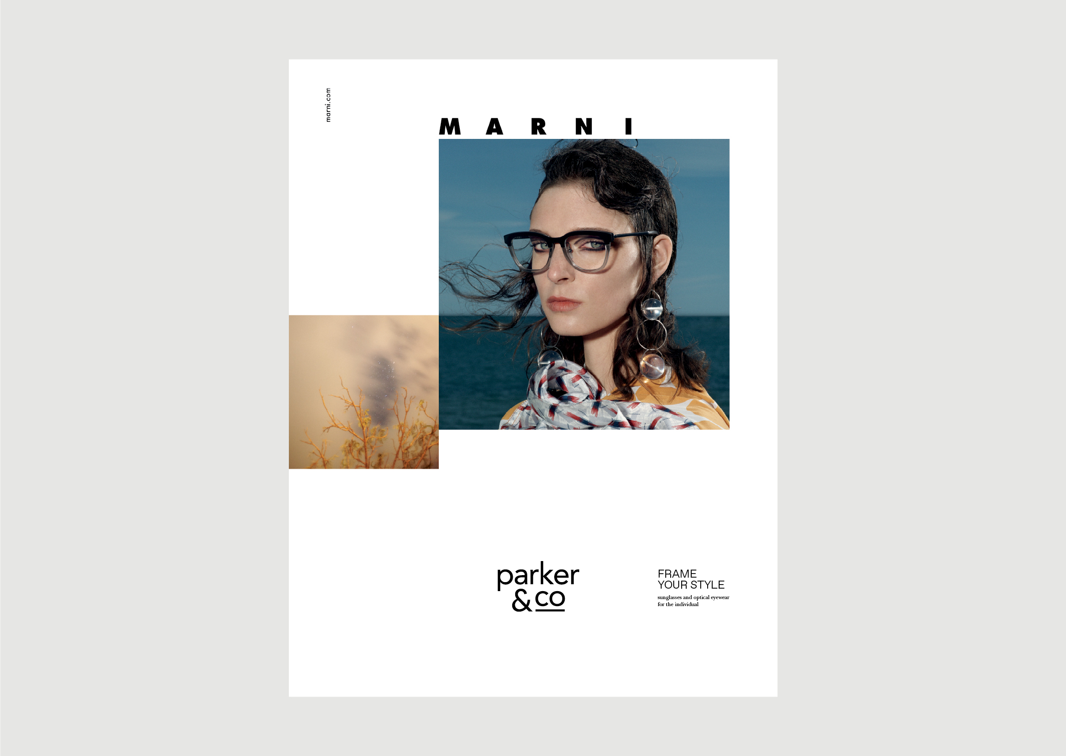 Parker and Co Eyewear – Denizen Ad – featuring Marni 2018