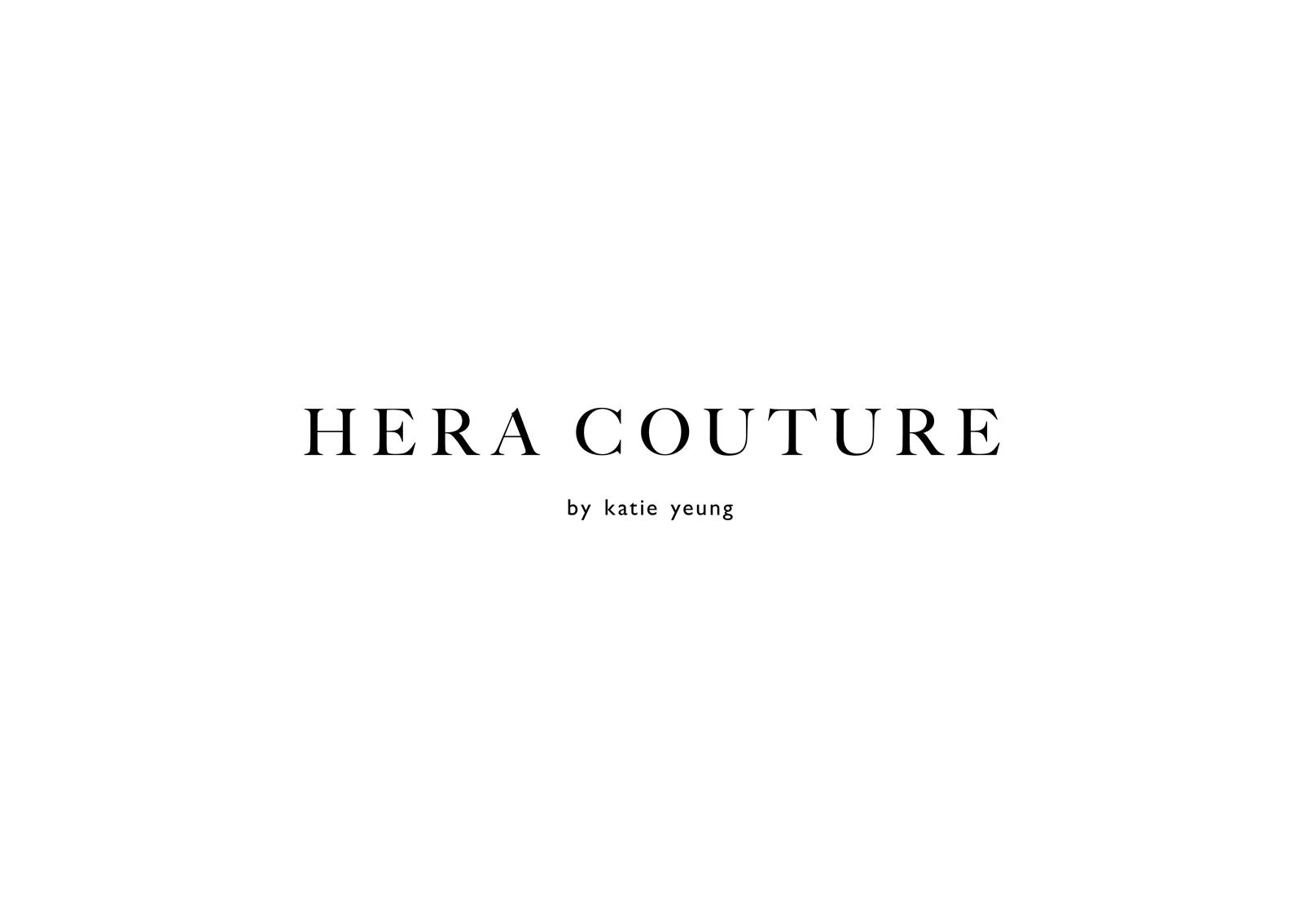 Hera Couture logotype – elegant serif typography