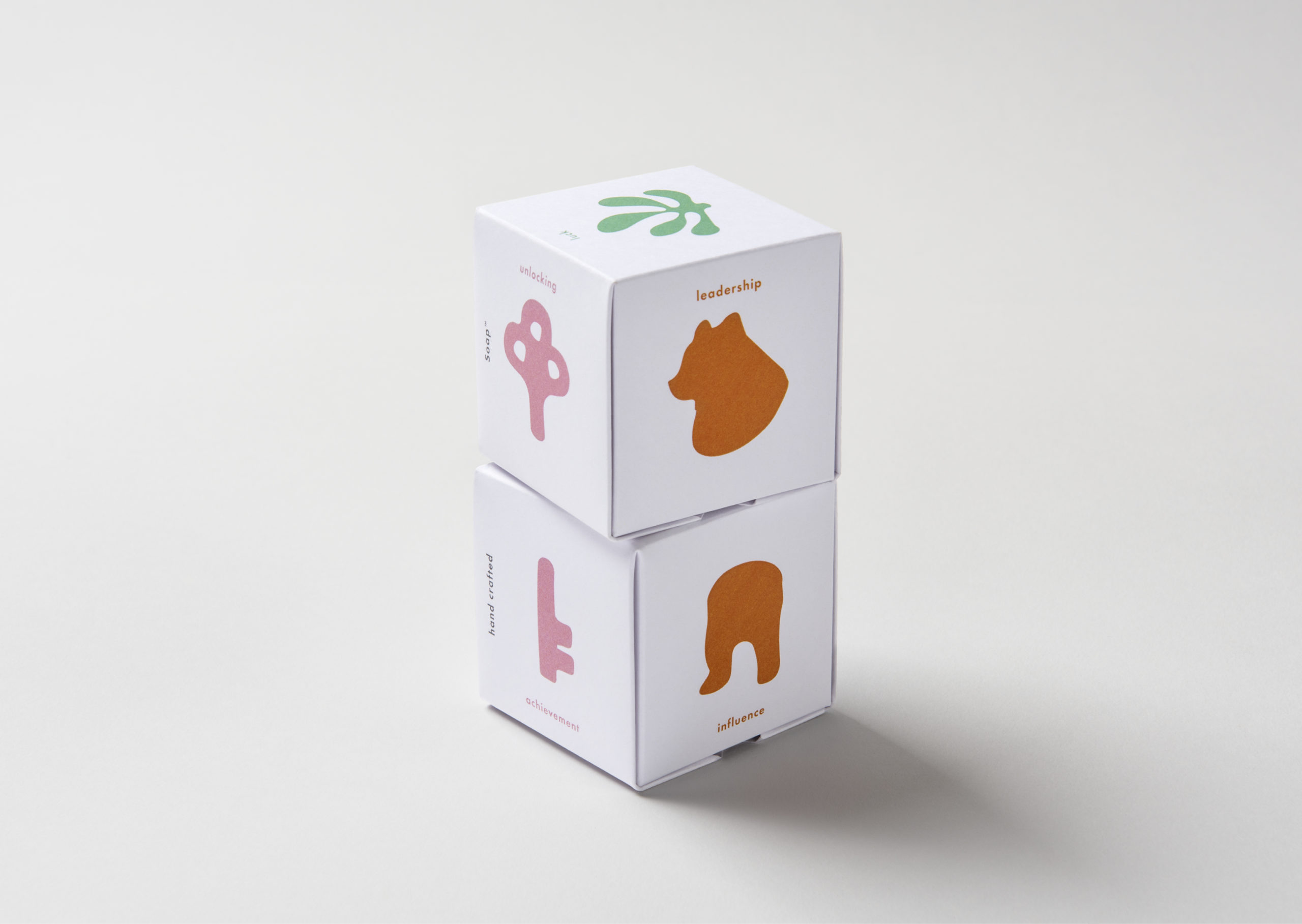 Animated stack of beautifully illustrated soap packaging