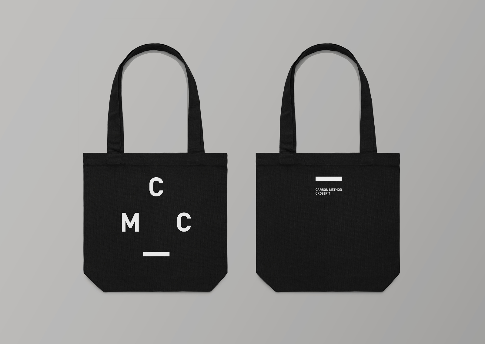 Carbon Method Crossfit branded tote gym bag wordmark logo