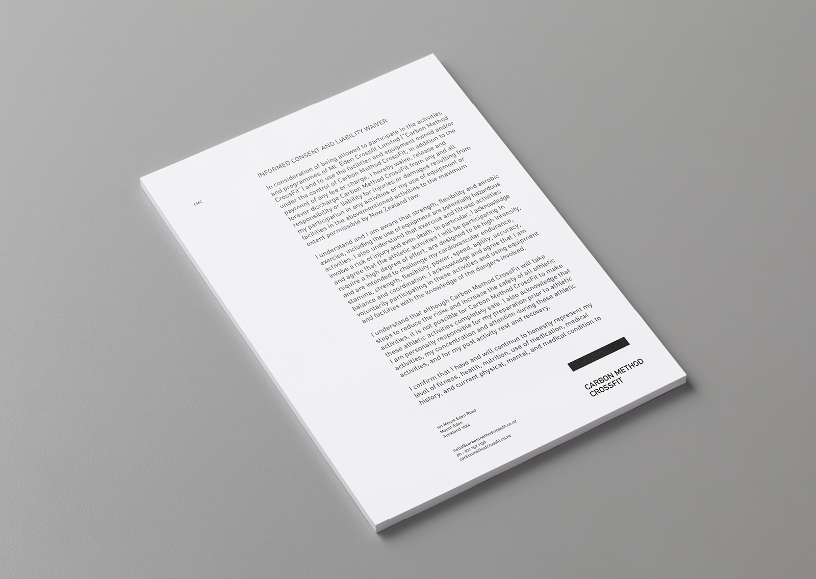 Carbon Method CrossFit Letterhead stationery Branding Identity Weight lifting