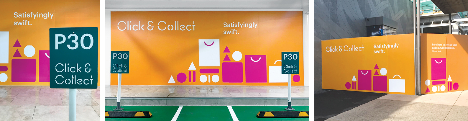 Sylvia Park Click an Collect Brand Illustration Retail Environment Graphics