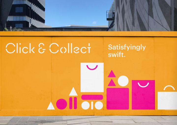 Click and Collect Sylvia Park Environment Graphic Hoardings Exterior