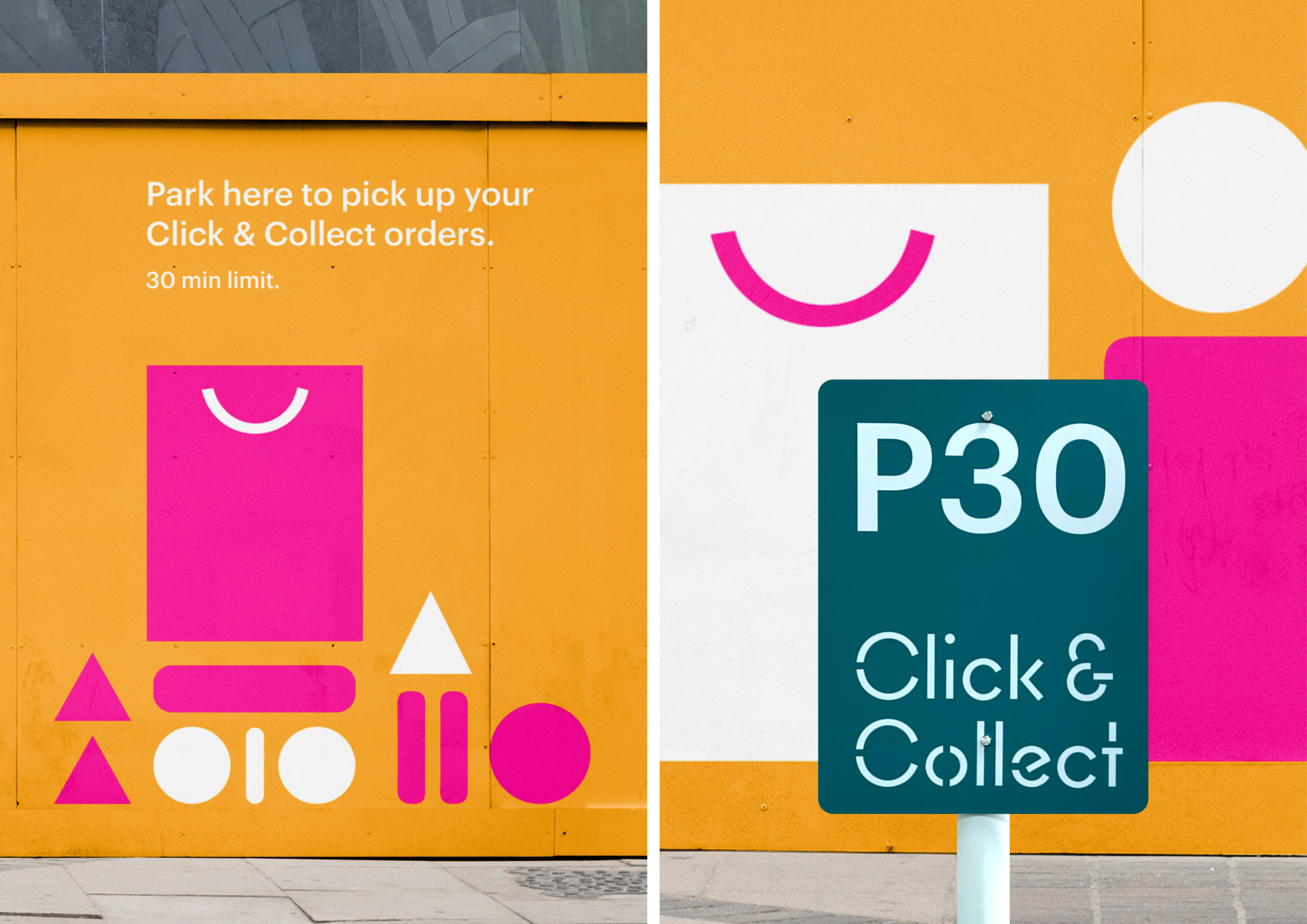 Click and Collect Sylvia Park Environment Graphic Hoardings Close up