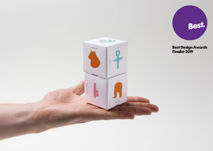 Best Awards Finalists 2019 features a Two stack of beautifully illustrated soap packaging in palm of hand