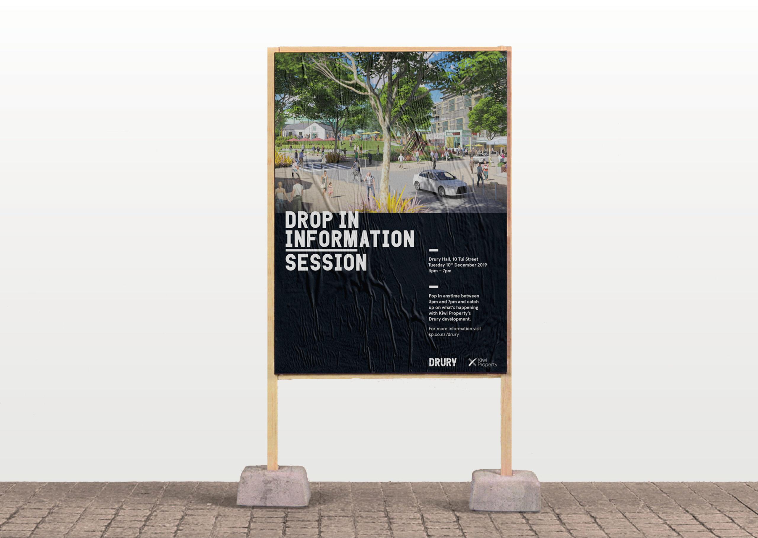 Poster for Drury community development meeting