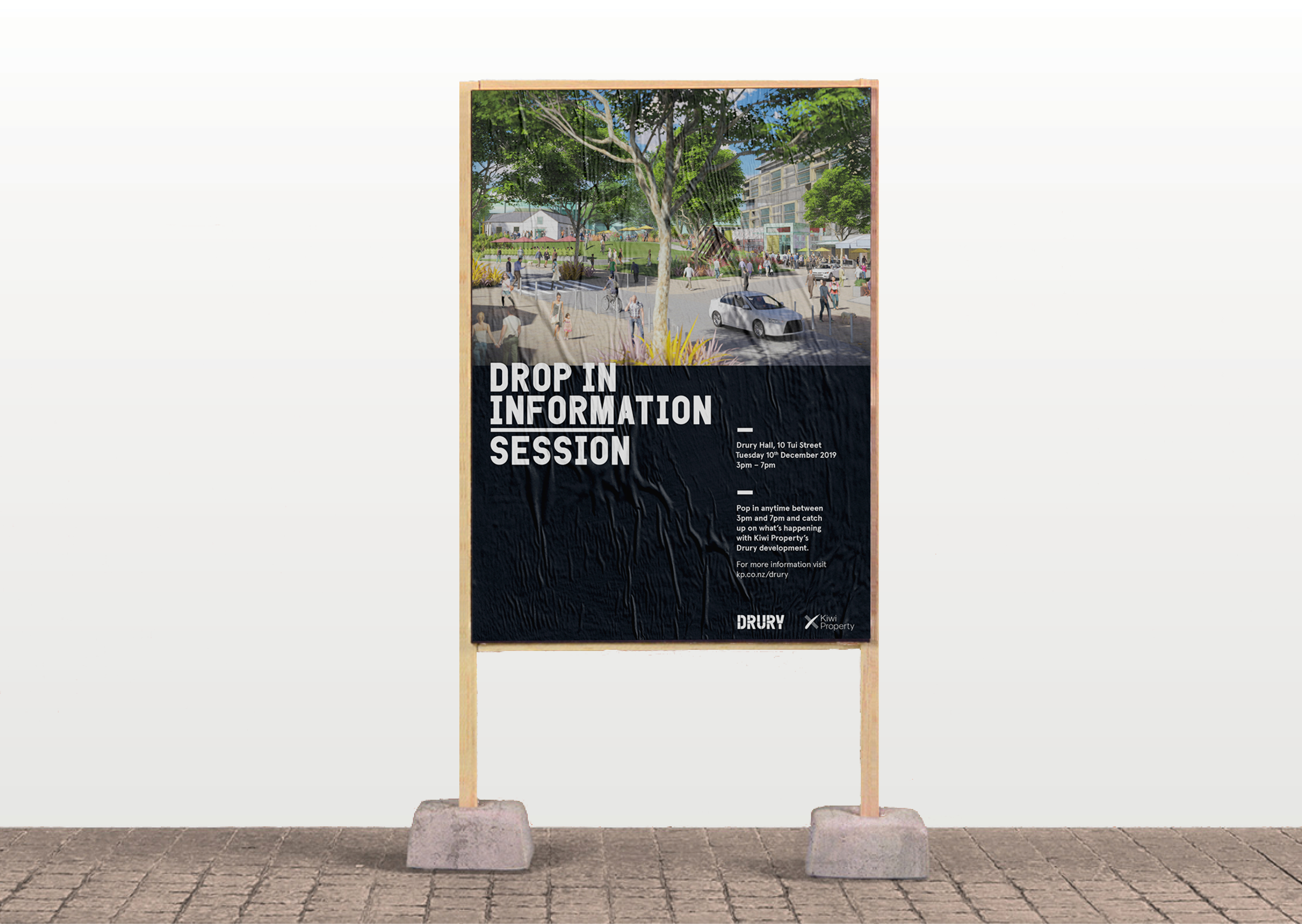 Poster for Drury community development meeting