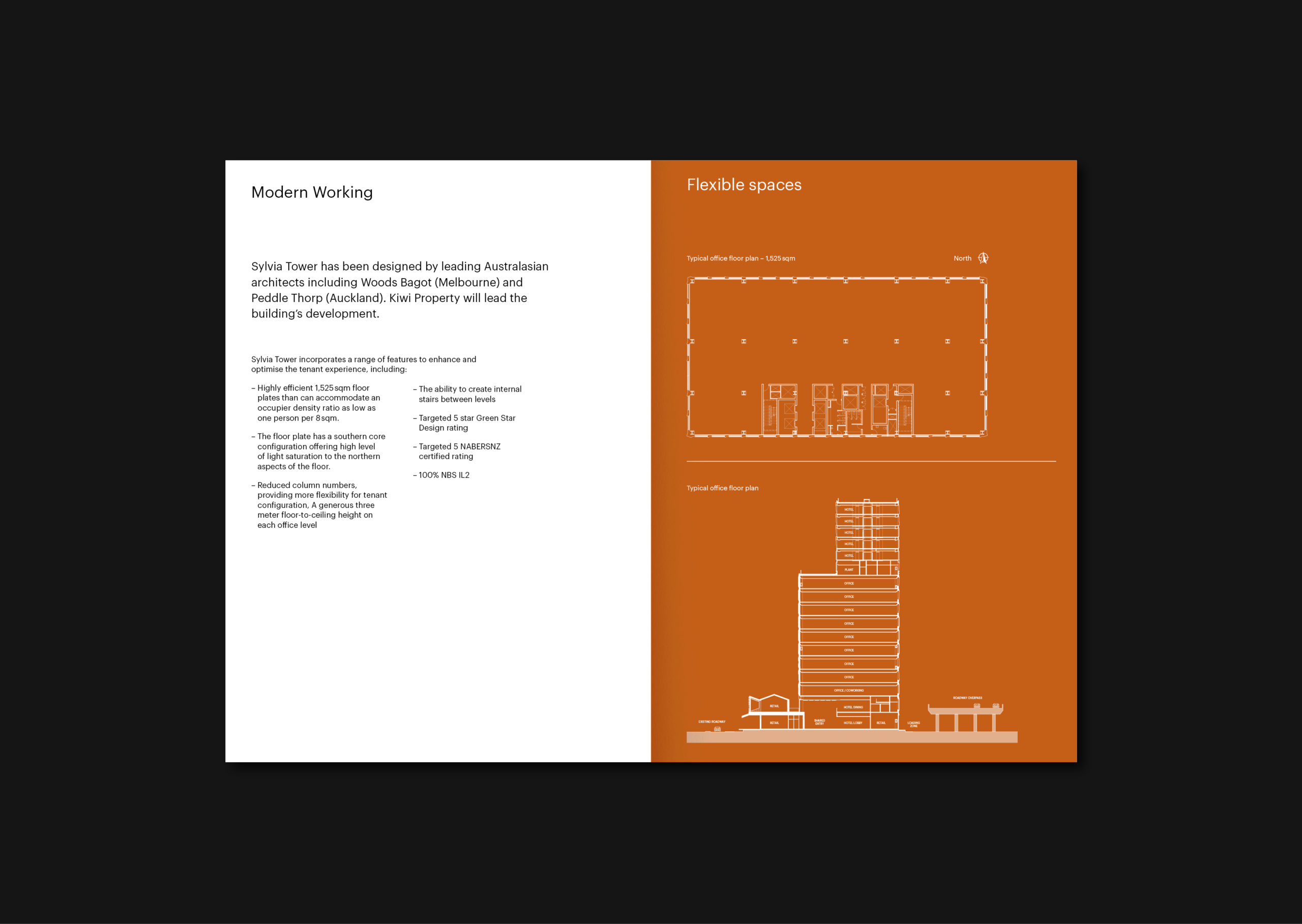 Kiwi Property – Sylvia Tower branding their new commercial development, Brochure