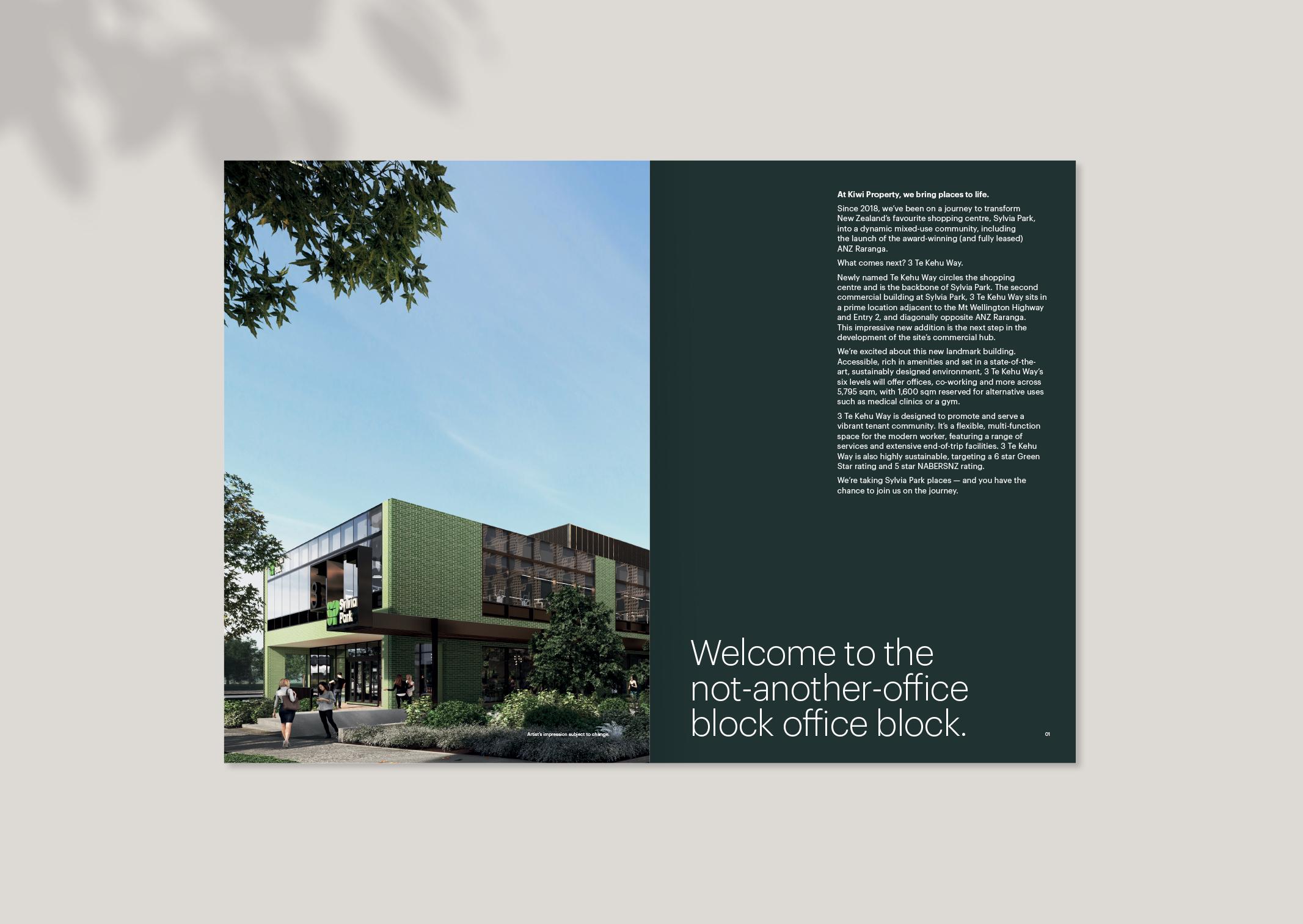 3 Te Kehu Way Commercial Property Development Brochure opening spread